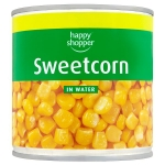 Happy Shopper Sweetcorn in Water 340g (Drained Weight 285g)